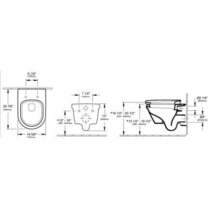 Set vas WC suspendat Villeroy & Boch Omnia Architectura cu capac inchidere lenta