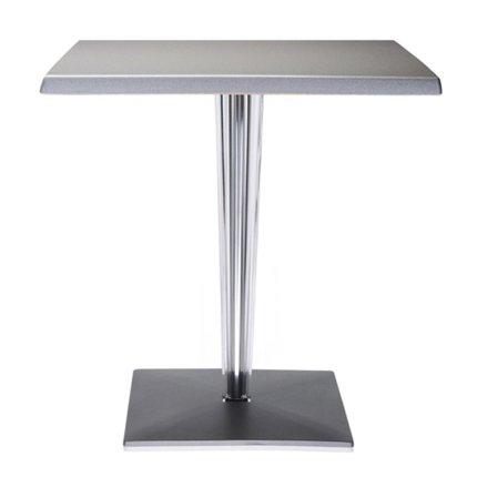 Masa Kartell TopTop design Philippe Starck & Eugeni Quitllet, 70x70cm, aluminiu