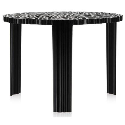 Masuta Kartell T-Table design Patricia Urquiola, 50cm, h 36cm, negru
