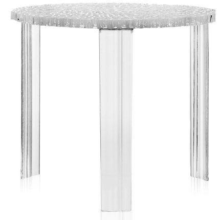 Masuta Kartell T-Table design Patricia Urquiola, 50cm, h 44cm, transparent