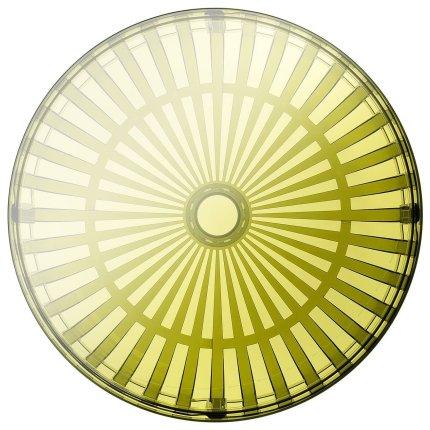 Masuta Kartell Panier design Ronan & Erwan Bouroullec, 61cm, h 21cm, verde transparent
