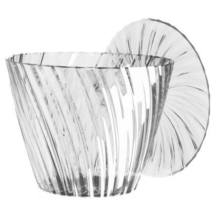 Masuta Kartell Sparkle design Tokujin Yoshioka, diametru 45cm, h 35cm, transparent