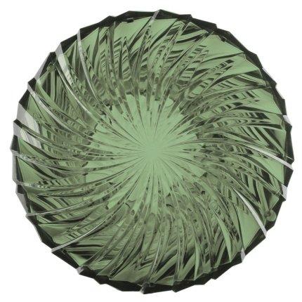 Masuta Kartell Sparkle design Tokujin Yoshioka, diametru 45cm, h 35cm, verde salvie transparent