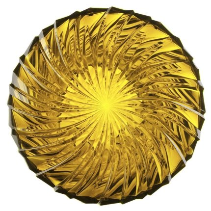 Masuta Kartell Sparkle design Tokujin Yoshioka, diametru 45cm, h 35cm, galben pal