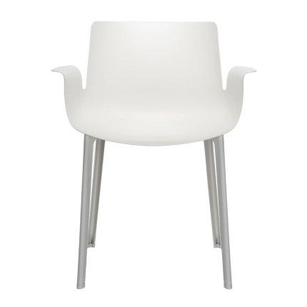 Scaun Kartell Piuma design Piero Lissoni, alb