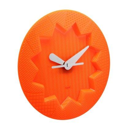 Ceas Kartell Crystal Palace design Alessandro Mendini, 19cm, portocaliu