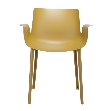 Scaun Kartell Piuma design Piero Lissoni, mustar