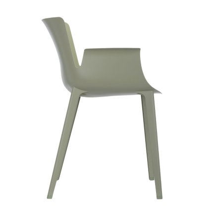 Scaun Kartell Piuma design Piero Lissoni, verde salvie