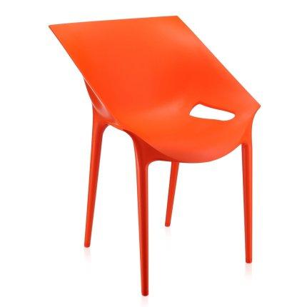 Scaun Kartell Dr. Yes design Philippe Starck & Eugeni Quitllet, rosu-portocaliu