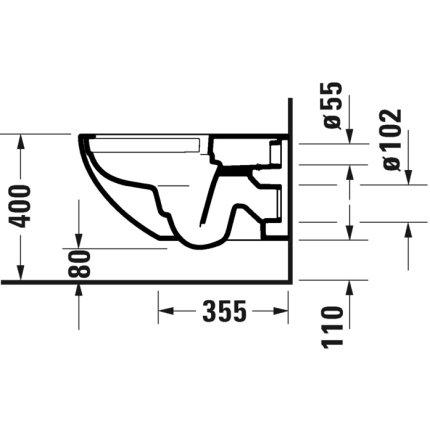 Vas WC suspendat Duravit Architec Rimless Hygiene Glaze