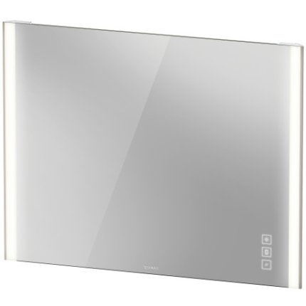 Oglinda Duravit XViu cu iluminare LED 102x80cm, cu incalzire si actionare pe senzor, margini champagne mat