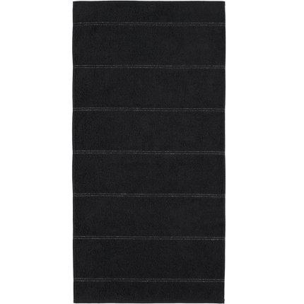 Prosop baie Cawo Carat Allover 80x150cm, 906 negru