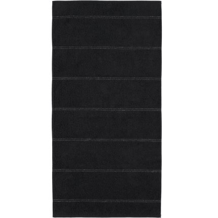 Prosop baie Cawo Carat Allover 50x100cm, 906 negru