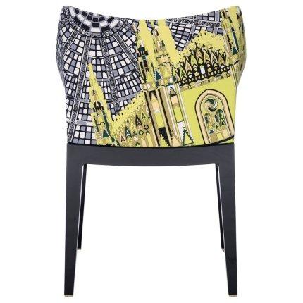 Scaun Kartell Madame design Philippe Starck, gri-negru
