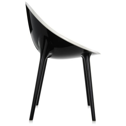 Scaun Kartell Super Impossible design Philippe Starck, alb-negru