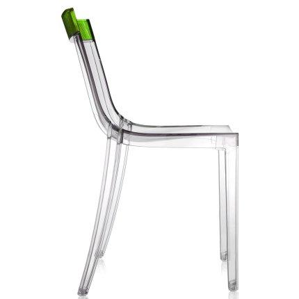 Scaun Kartell HI-CUT design Philippe Stark & Eugeni Quittlet, transparent-verde