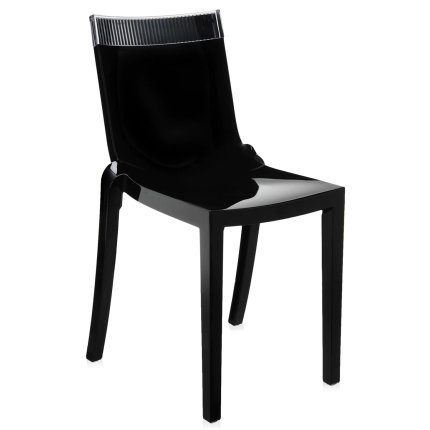 Scaun Kartell HI-CUT design Philippe Stark & Eugeni Quittlet, negru-transparent