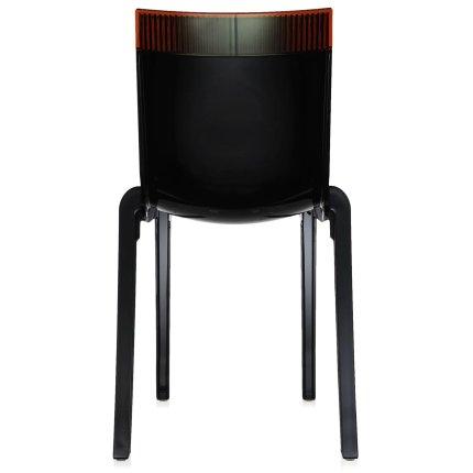 Scaun Kartell HI-CUT design Philippe Stark & Eugeni Quittlet, negru-orange