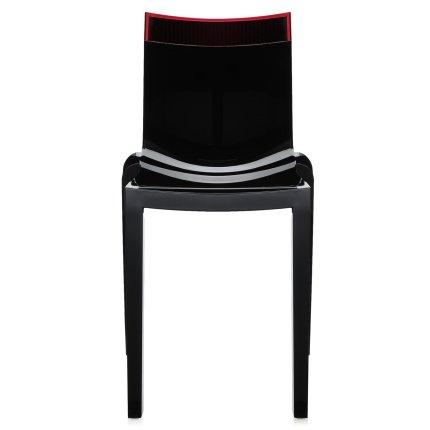 Scaun Kartell HI-CUT design Philippe Stark & Eugeni Quittlet, negru-rosu