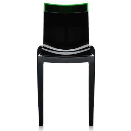 Scaun Kartell HI-CUT design Philippe Stark & Eugeni Quittlet, negru-verde