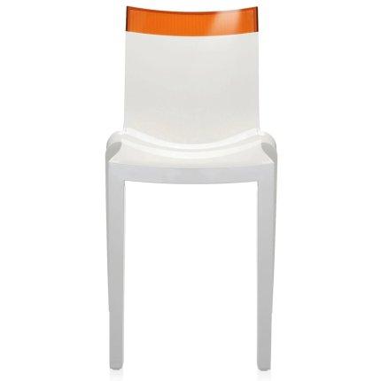 Scaun Kartell HI-CUT design Philippe Stark & Eugeni Quittlet, alb-orange