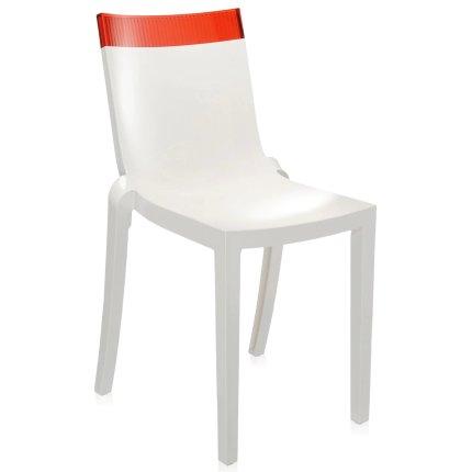 Scaun Kartell HI-CUT design Philippe Stark & Eugeni Quittlet, alb-rosu