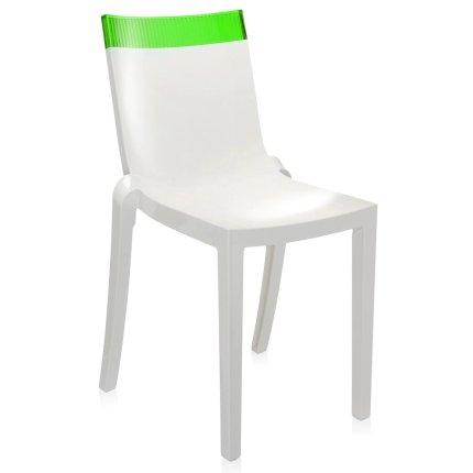 Scaun Kartell HI-CUT design Philippe Stark & Eugeni Quittlet, alb-verde