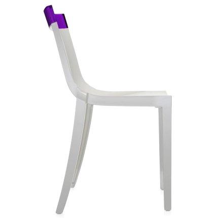 Scaun Kartell HI-CUT design Philippe Stark & Eugeni Quittlet, alb-mov