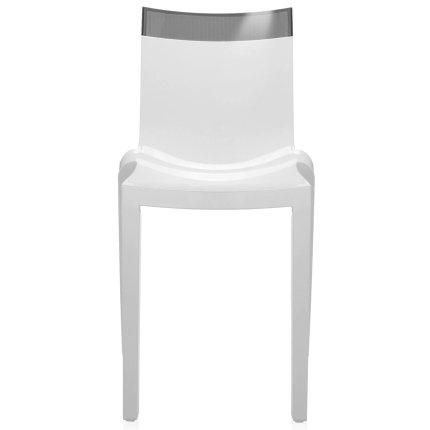Scaun Kartell HI-CUT design Philippe Stark & Eugeni Quittlet, alb-gri