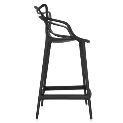 Scaun inalt Kartell Masters Stool design Philippe Starck & Eugeni Quitllet, 65cm, negru