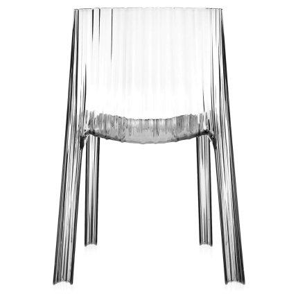 Scaun Kartell Frilly design Patricia Urquiola, transparent