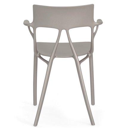 Scaun Kartell A.I. design Philippe Starck, gri metalic