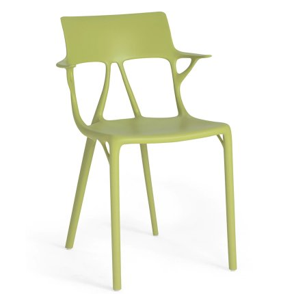 Scaun Kartell A.I. design Philippe Starck, verde