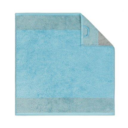 Prosop de bucatarie Cawo Cuisine Two-Tone 50x50cm, 47 albastru