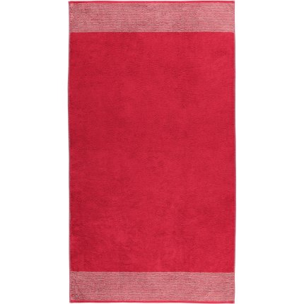 Prosop baie Cawo Two-Tone 80x150cm, 22 rosu bordeaux