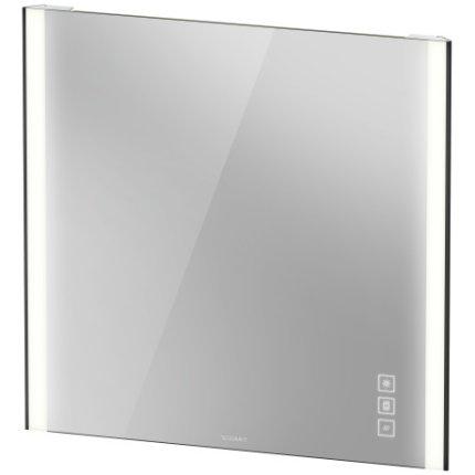 Oglinda Duravit XViu cu iluminare LED 82x80cm, cu incalzire si actionare pe senzor, margini negru mat
