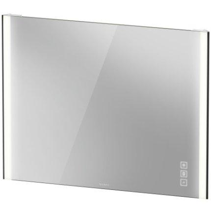 Oglinda Duravit XViu cu iluminare LED 102x80cm, cu incalzire si actionare pe senzor, margini negru mat