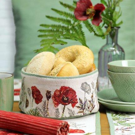 Cos pentru paine Sander Gobelins Poppy Meadow 10x18cm, 40 natur