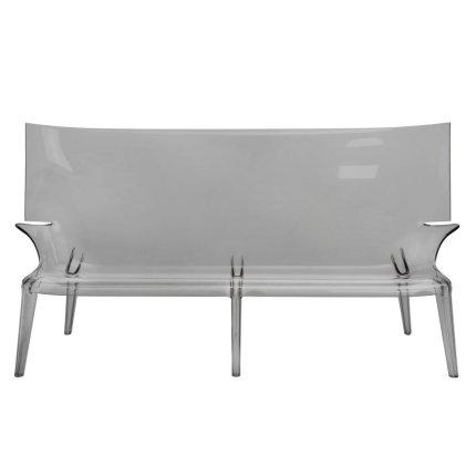 Canapea Kartell Uncle Jack design Philippe Starck, 190cm, fumuriu transparent