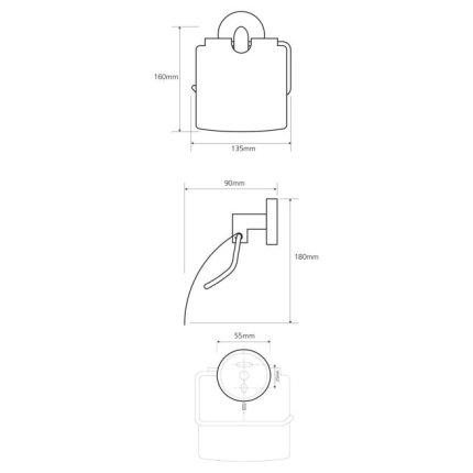 Suport hartie igienica cu aparatoare Bemeta Neo