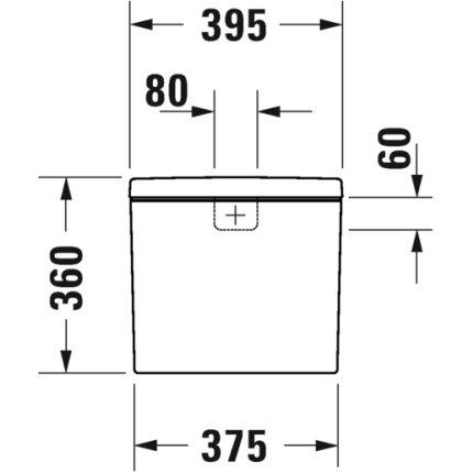 Rezervor wc Duravit D-Neo cu dubla comanda si alimentare inferioara