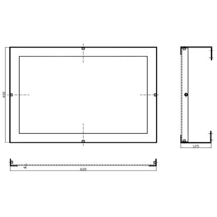 Oglinda pivotanta Bemeta Help 60x40x120 rama crom lucios