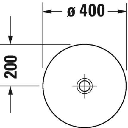Lavoar tip bol Duravit D-Neo 40cm, alb
