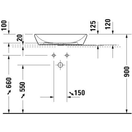 Lavoar tip bol Duravit D-Neo 60cm, alb