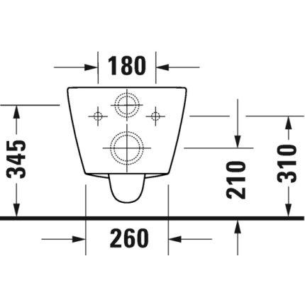 Vas wc suspendat Duravit D-Neo Rimless WonderGliss 37x54cm, fixare ascunsa