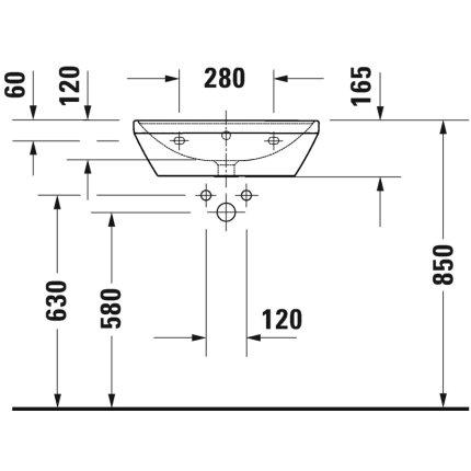 Lavoar Duravit D-Neo 55cm, alb