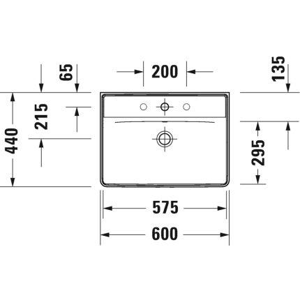 Lavoar Duravit D-Neo 60cm, alb