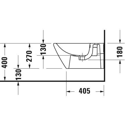 Bideu suspendat Duravit D-Neo 37x54cm
