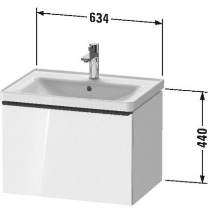 Dulap baza Duravit D-Neo cu 1 sertar, pentru lavoar 65cm, White Matt Decor