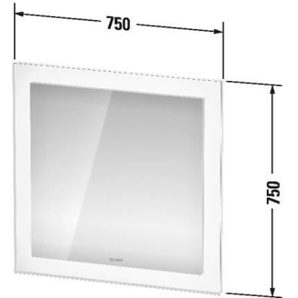 Oglinda Duravit White Tulip cu iluminare LED si senzor, 75x75cm